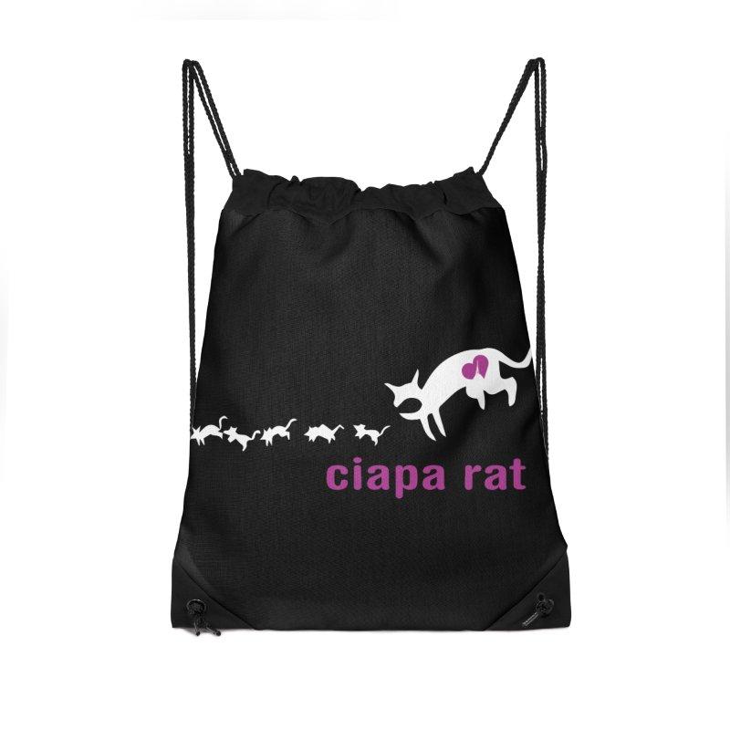 ciapa rat Accessories Drawstring Bag Bag by Lospaccio Conamole