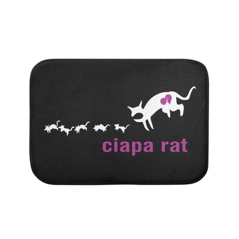 ciapa rat Home Bath Mat by Lospaccio Conamole
