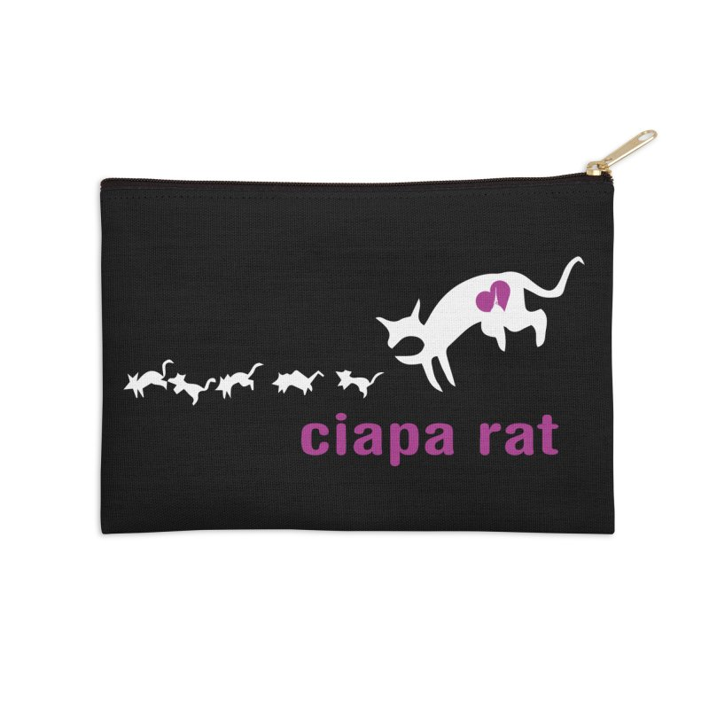 ciapa rat Accessories Zip Pouch by Lospaccio Conamole