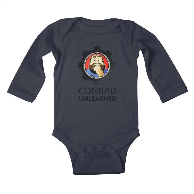 Conrad Unleashed Vault Dark Kids Baby Longsleeve Bodysuit by Conrad Unleashed Official Merch