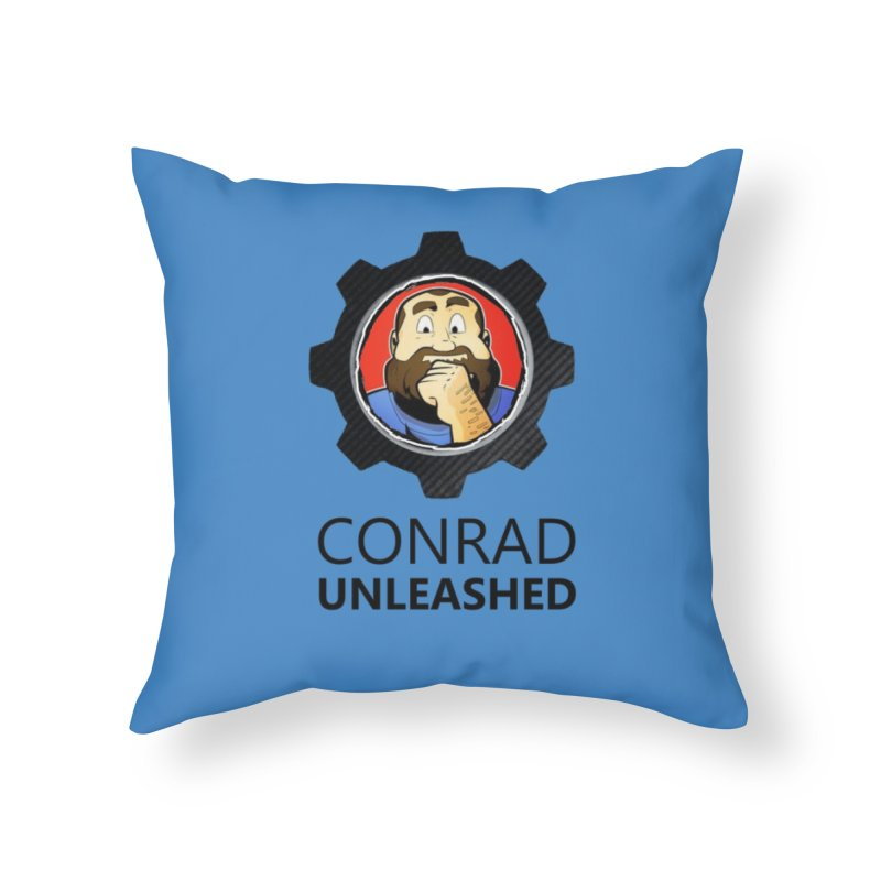 Conrad Unleashed Vault Dark Home Throw Pillow by Conrad Unleashed Official Merch