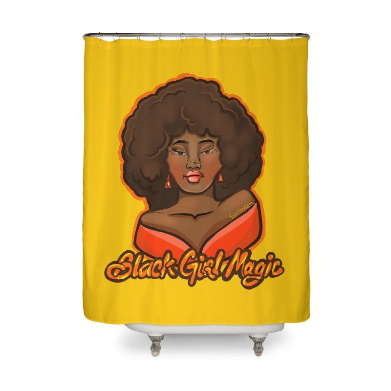 Black Girl Magic Home Shower Curtain by CosmicMedium's Artist Shop