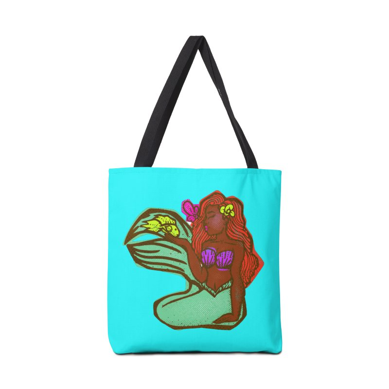 The Black Little Mermaid and Fish Accessories Bag by CosmicMedium's Artist Shop