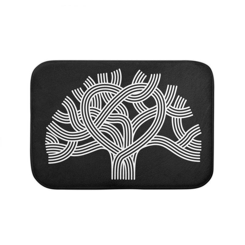 Oakland Love Tree (White) Home Bath Mat by Creative Satchel Shop