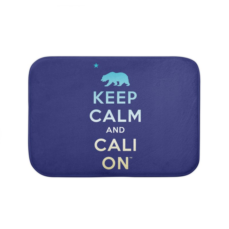 Keep Calm and Cali On (Beach) Home Bath Mat by Creative Satchel Shop