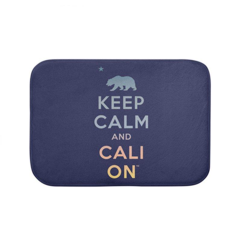 Keep Calm and Cali On (Sunset) Home Bath Mat by Creative Satchel Shop