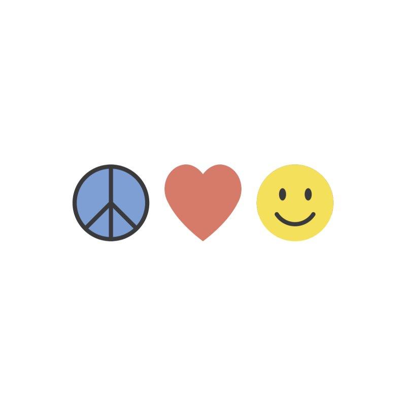 Peace. Love. Happy Face. by Creative Satchel Shop