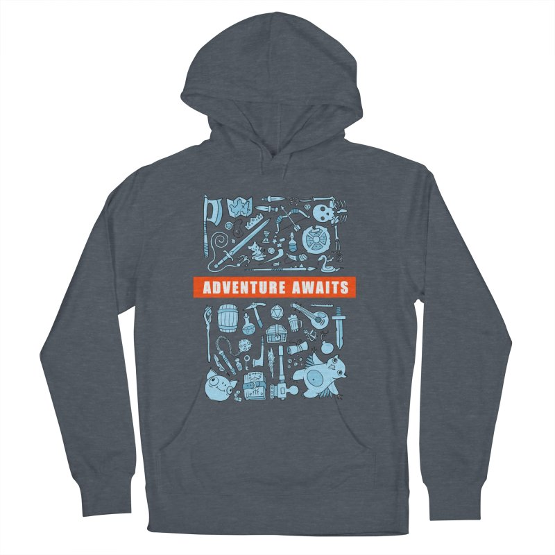 Adventure Awaits Men's French Terry Pullover Hoody by Critical Shoppe