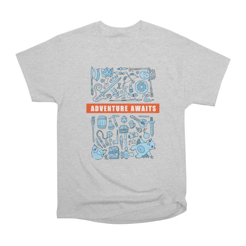 Adventure Awaits Men's Heavyweight T-Shirt by Critical Shoppe