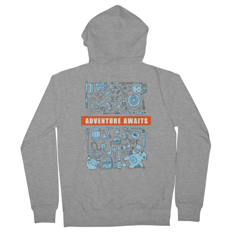 Adventure Awaits Men's Zip-Up Hoody by Critical Shoppe
