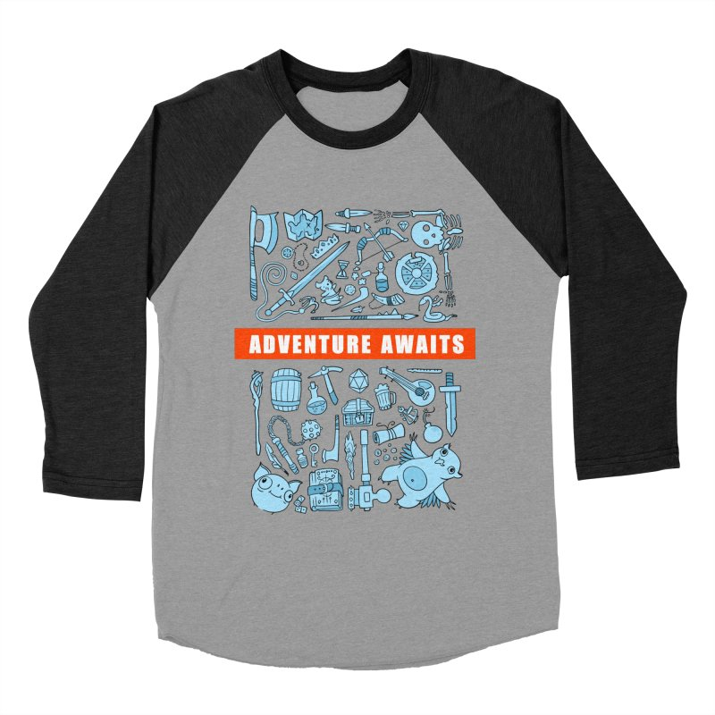 Adventure Awaits Men's Baseball Triblend Longsleeve T-Shirt by Critical Shoppe