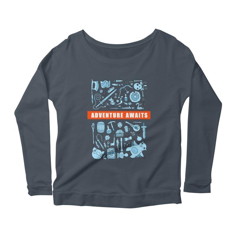 Adventure Awaits Women's Scoop Neck Longsleeve T-Shirt by Critical Shoppe
