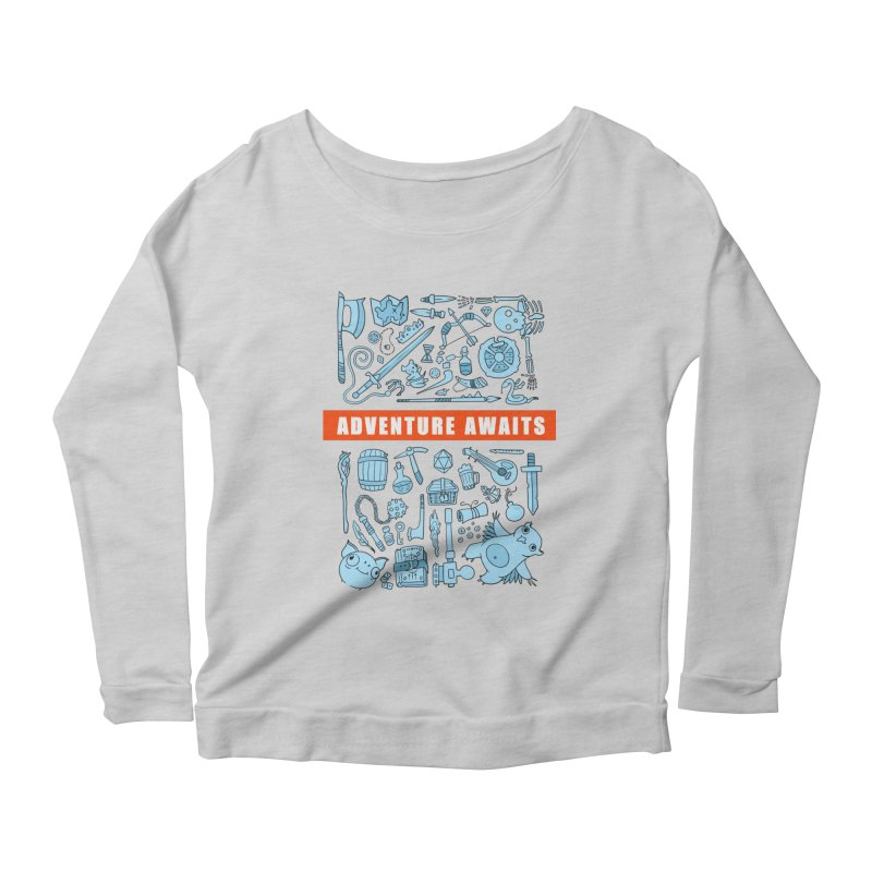 Adventure Awaits Women's Scoop Neck Longsleeve T-Shirt by Critical Shoppe