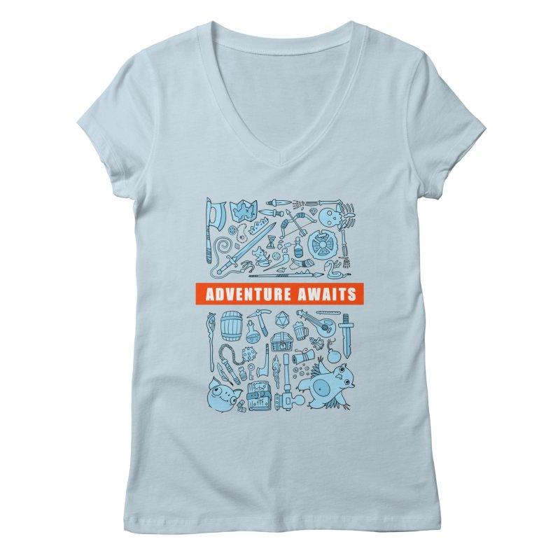 Adventure Awaits Women's V-Neck by Critical Shoppe