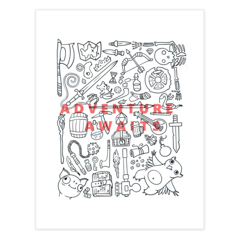 Adventure Awaits in Fine Art Print by Critical Shoppe