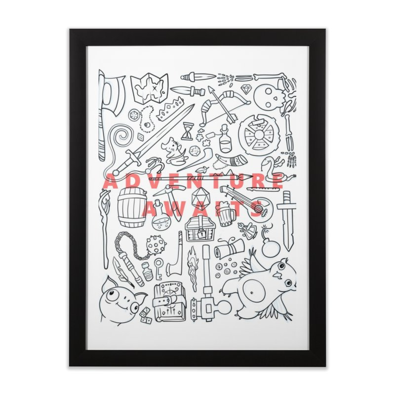 Adventure Awaits Home Framed Fine Art Print by Critical Shoppe