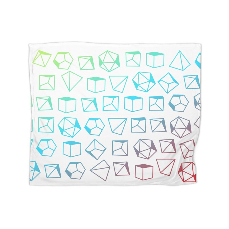Dice on Dice on Dice Home Fleece Blanket Blanket by Critical Shoppe