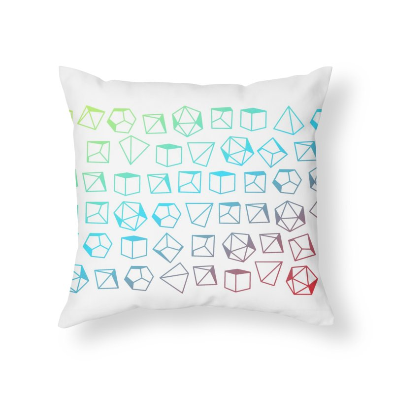 Dice on Dice on Dice Home Throw Pillow by Critical Shoppe