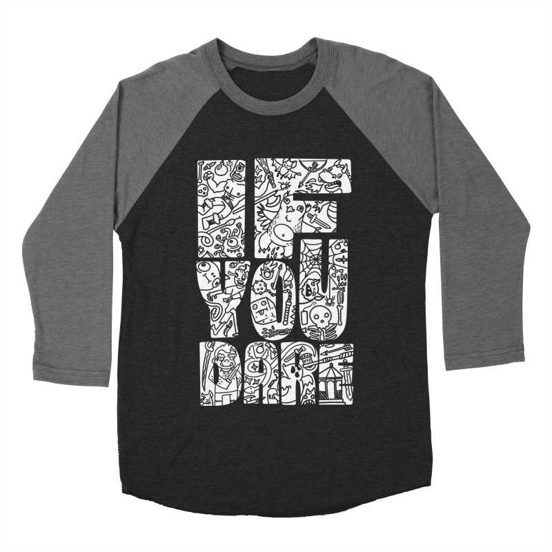 If You Dare Men's Baseball Triblend Longsleeve T-Shirt by Critical Shoppe
