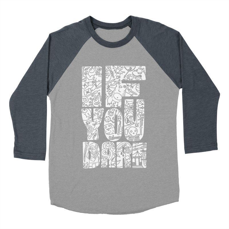 If You Dare Men's Baseball Triblend Longsleeve T-Shirt by Critical Shoppe