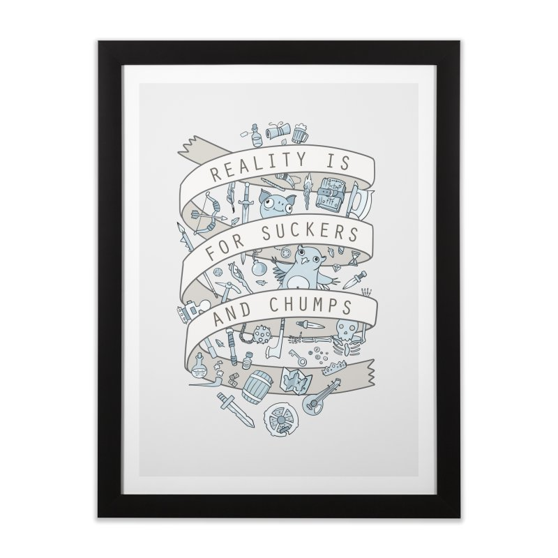 Fantasy is for Winners Home Framed Fine Art Print by Critical Shoppe
