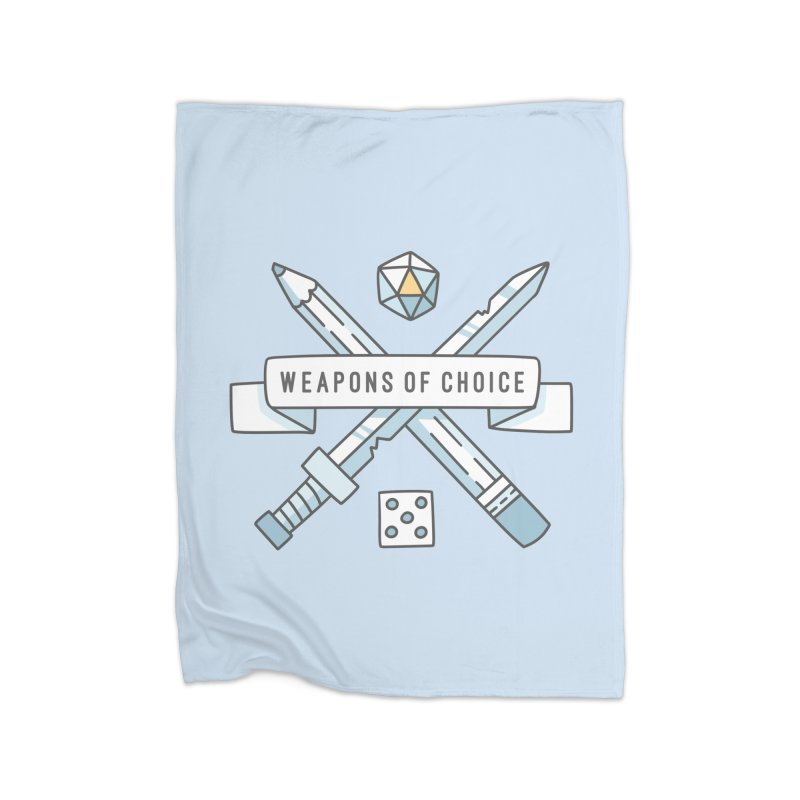 Weapons of Choice Home Fleece Blanket Blanket by Critical Shoppe
