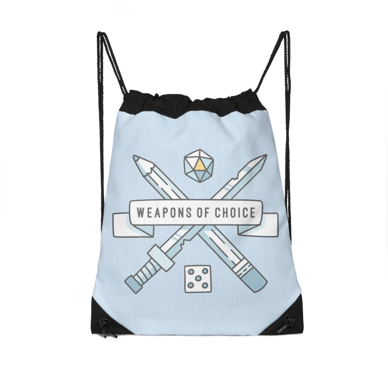 Weapons of Choice Accessories Drawstring Bag Bag by Critical Shoppe