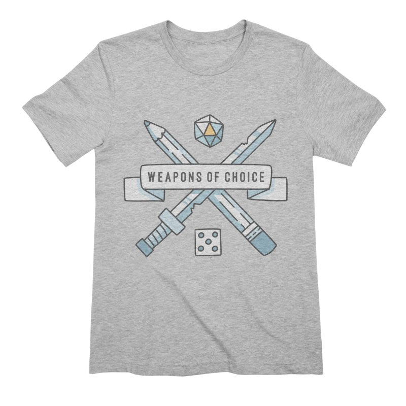 Weapons of Choice Men's Extra Soft T-Shirt by Critical Shoppe