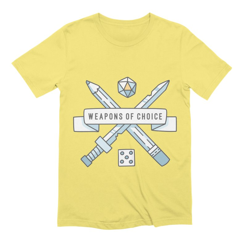 Weapons of Choice Men's T-Shirt by Critical Shoppe