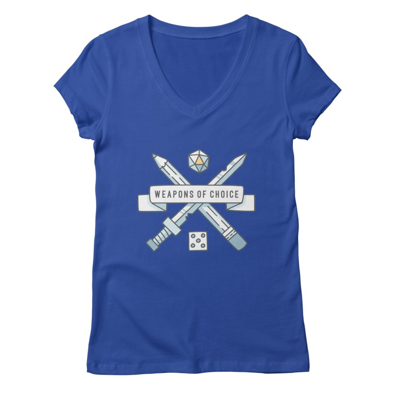 Weapons of Choice Women's Regular V-Neck by Critical Shoppe