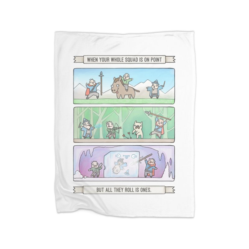 Derps n' Derps Home Fleece Blanket Blanket by Critical Shoppe