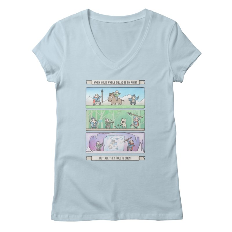 Derps n' Derps Women's V-Neck by Critical Shoppe