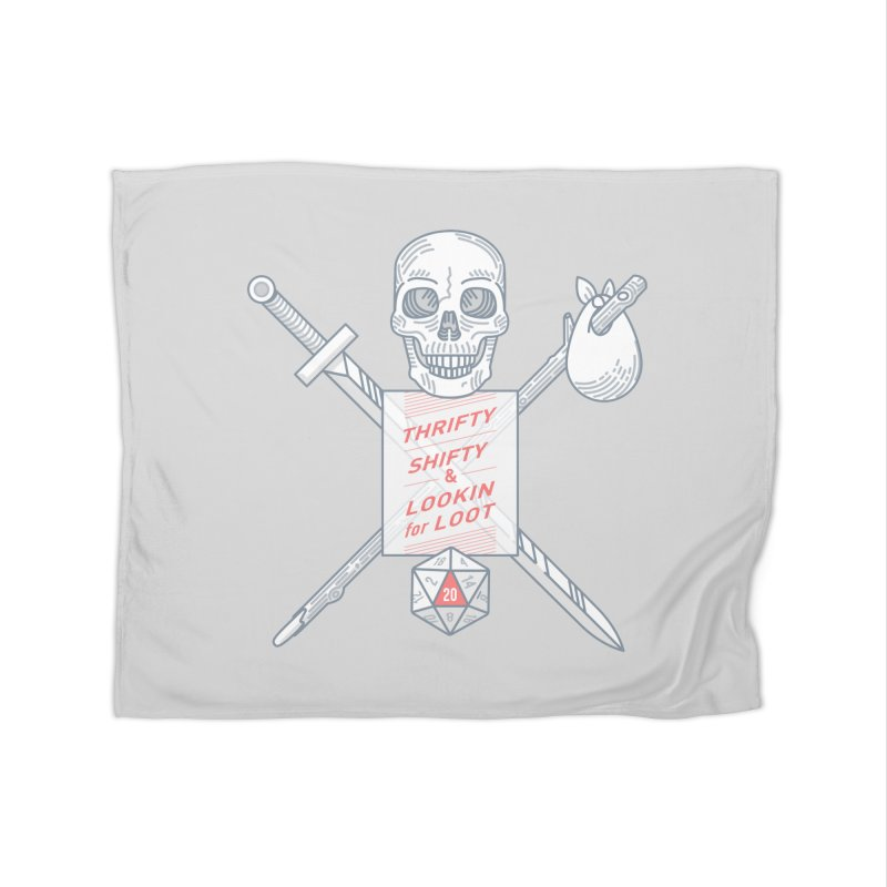 Murderhobo Home Fleece Blanket Blanket by Critical Shoppe
