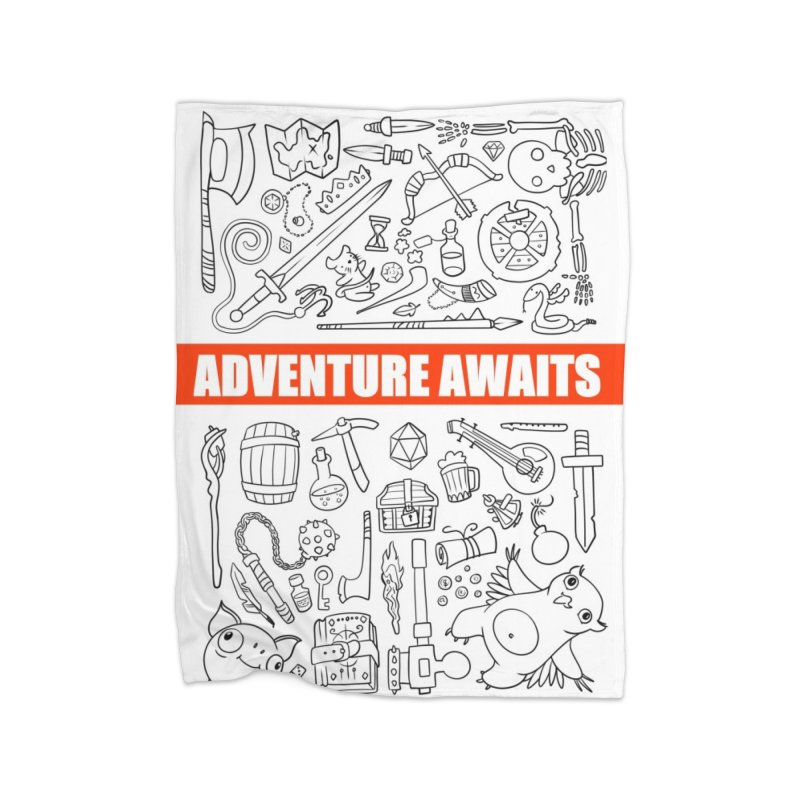 Adventure Awaits Home Fleece Blanket Blanket by Critical Shoppe