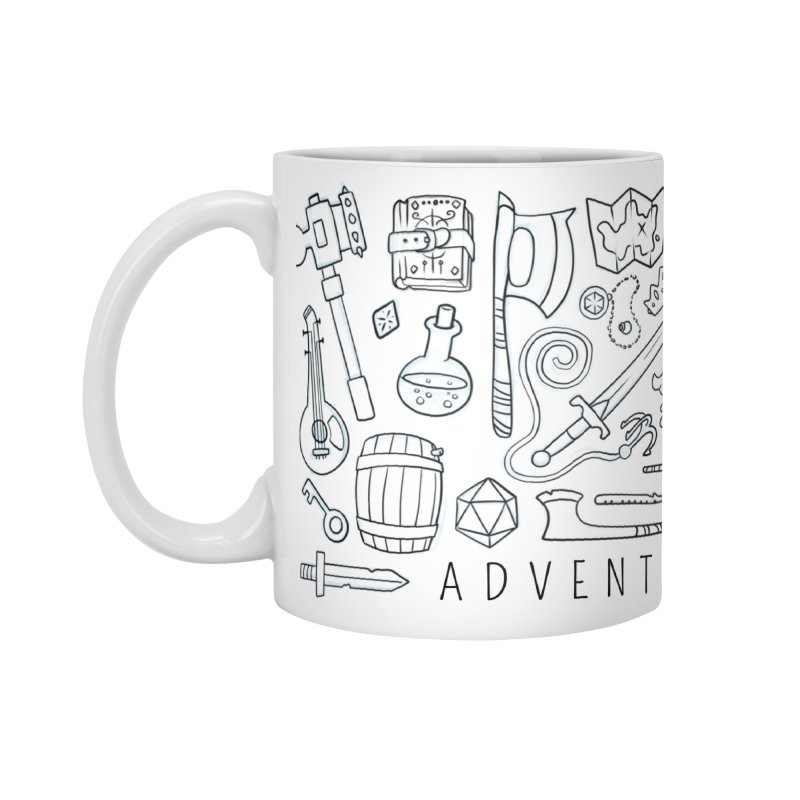 Adventure Awaits Accessories Standard Mug by Critical Shoppe