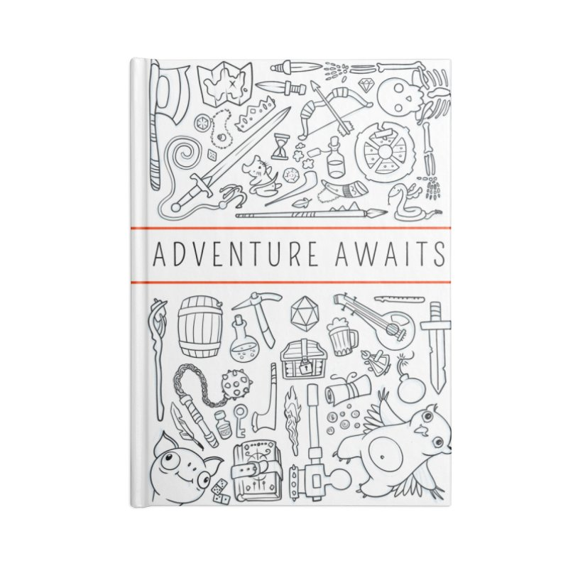 Adventure Awaits Accessories Blank Journal Notebook by Critical Shoppe