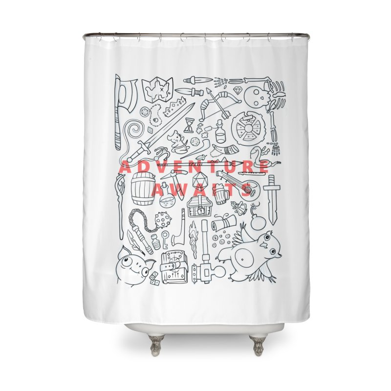 Adventure Awaits Home Shower Curtain by Critical Shoppe