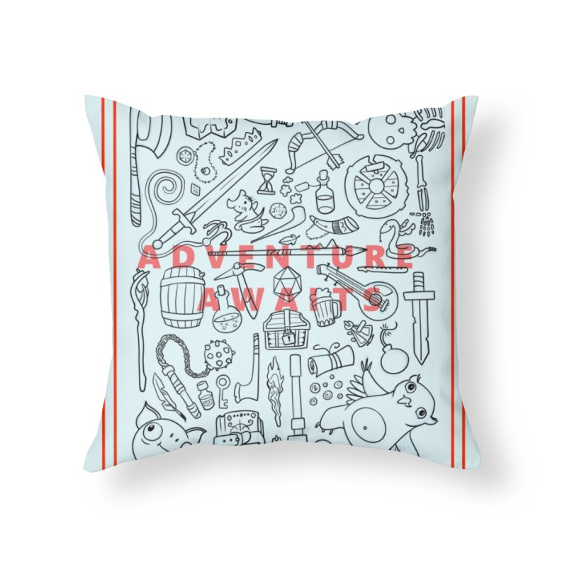 Adventure Awaits Home Throw Pillow by Critical Shoppe