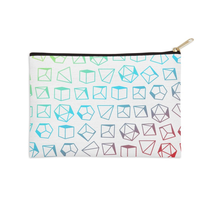 Dice on Dice on Dice Accessories Zip Pouch by Critical Shoppe
