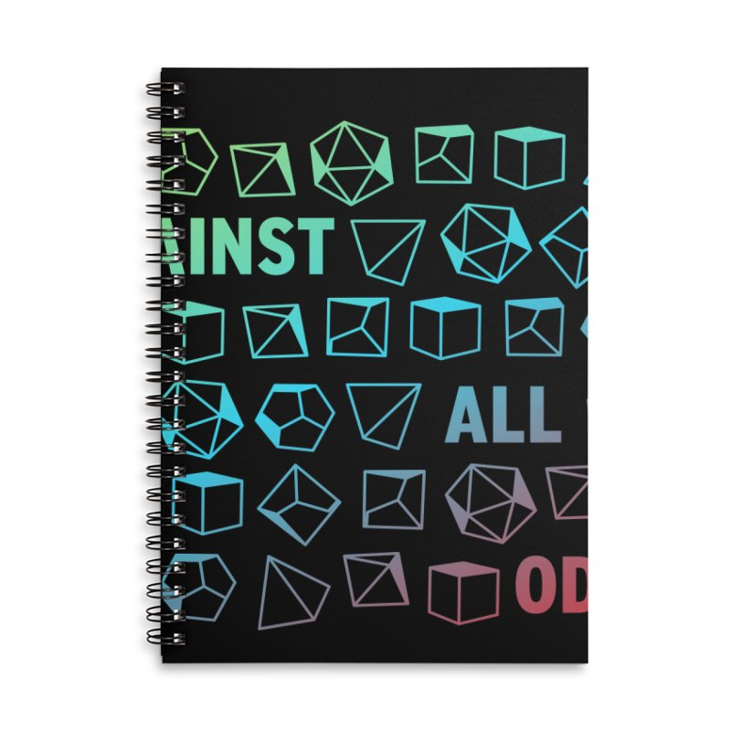 Against All Odds Accessories Lined Spiral Notebook by Critical Shoppe