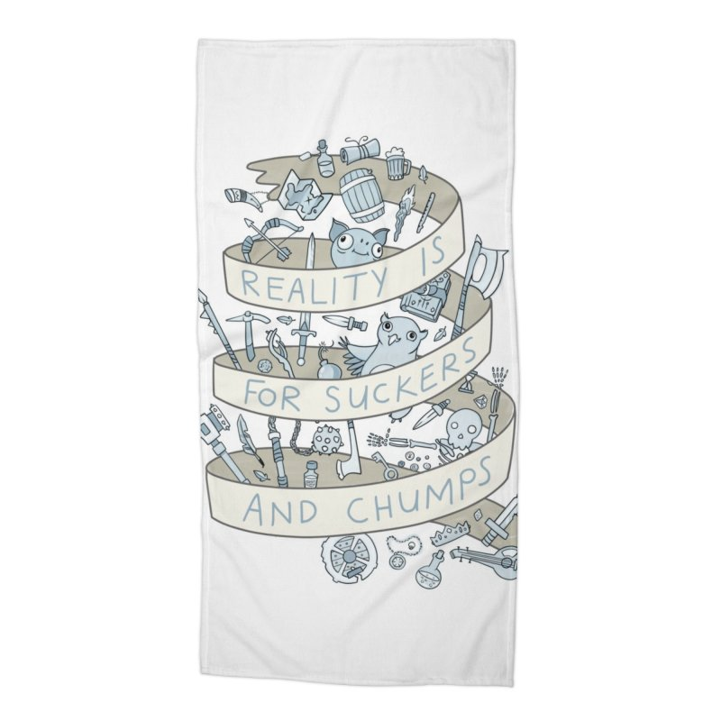 Fantasy is for Winners Accessories Beach Towel by Critical Shoppe