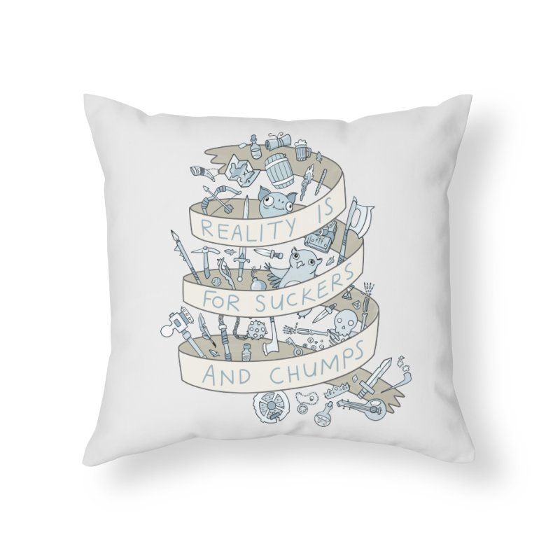 Fantasy is for Winners Home Throw Pillow by Critical Shoppe