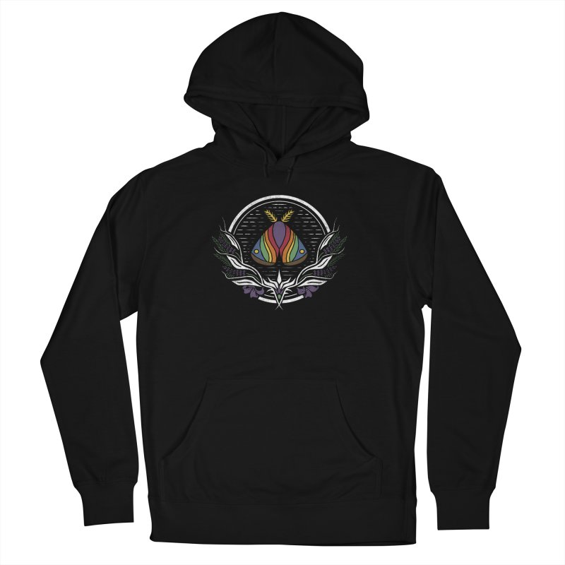 Pride Moth Men's French Terry Pullover Hoody by Crowglass Design