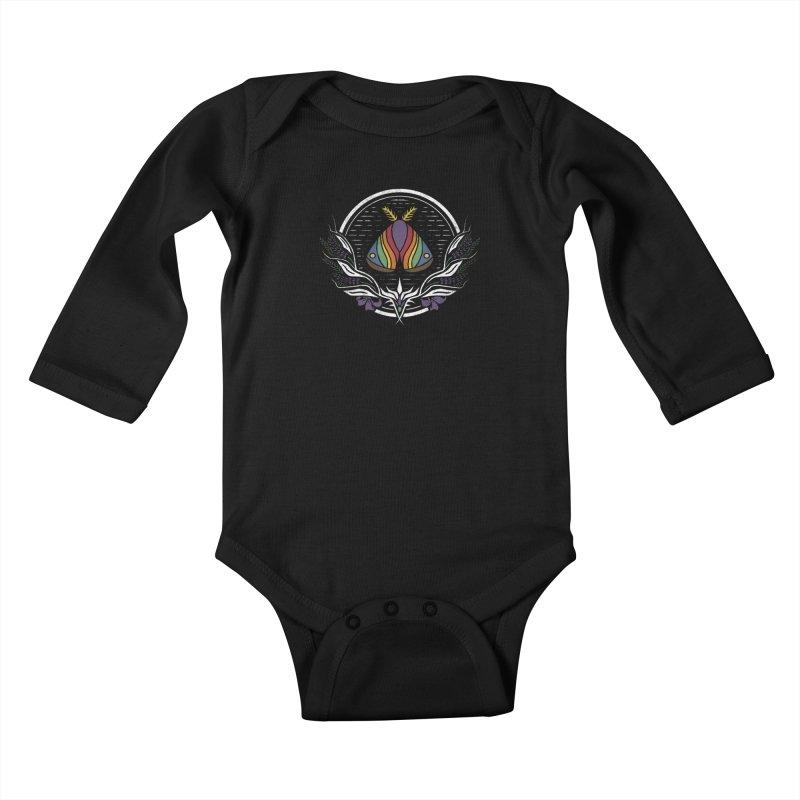 Pride Moth Kids Baby Longsleeve Bodysuit by Crowglass Design