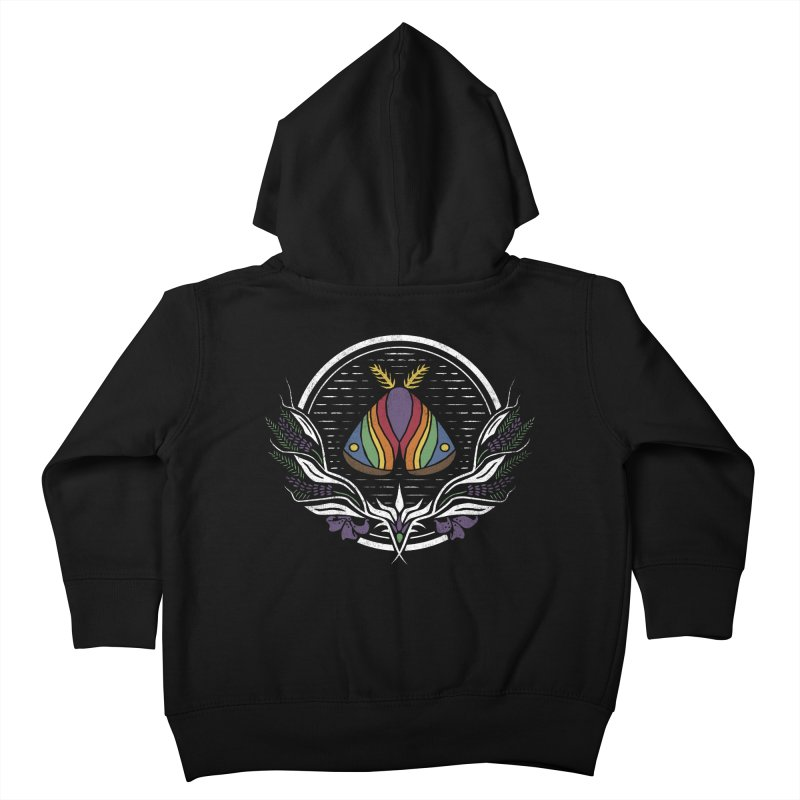 Pride Moth Kids Toddler Zip-Up Hoody by Crowglass Design