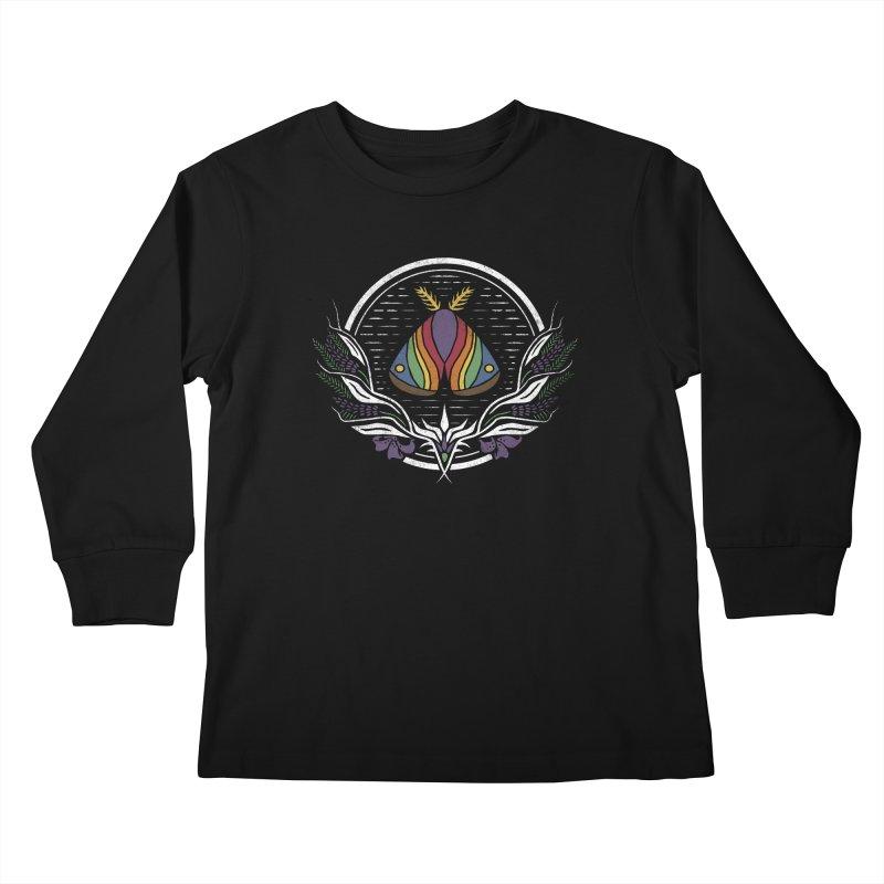 Pride Moth Kids Longsleeve T-Shirt by Crowglass Design