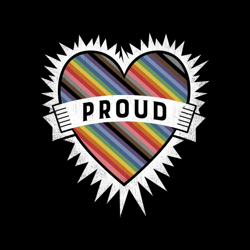 Proud Men's T-Shirt by Crowglass Design