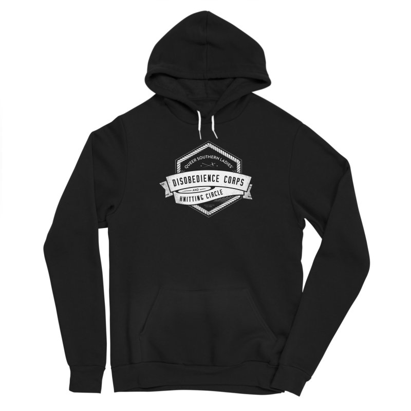 Disobedience and Knitting Women's Sponge Fleece Pullover Hoody by Crowglass Design