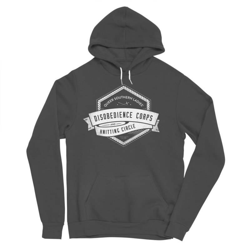 Disobedience and Knitting Men's Sponge Fleece Pullover Hoody by Crowglass Design