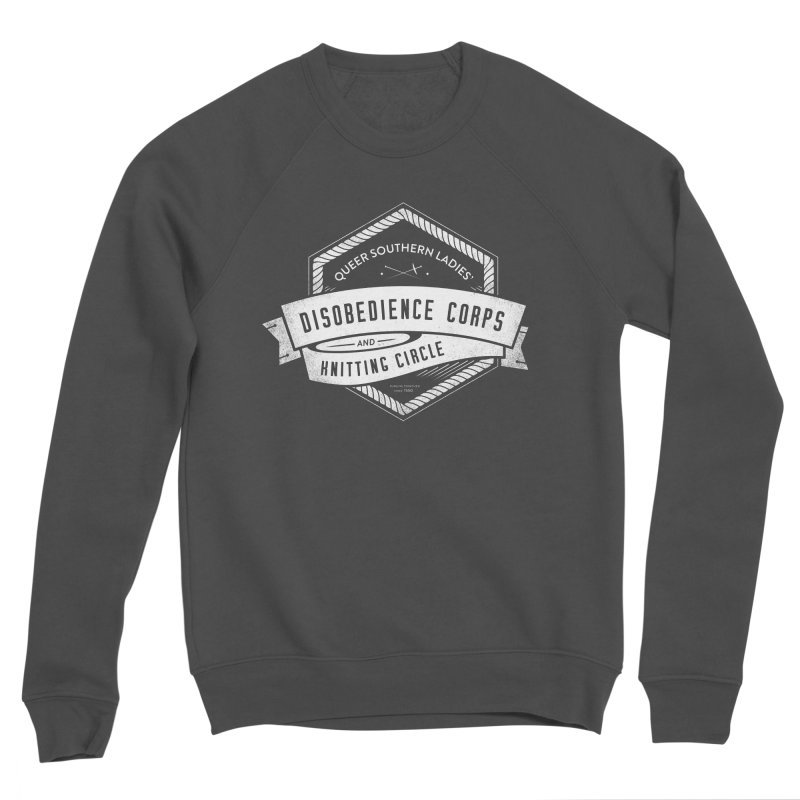 Disobedience and Knitting Women's Sponge Fleece Sweatshirt by Crowglass Design